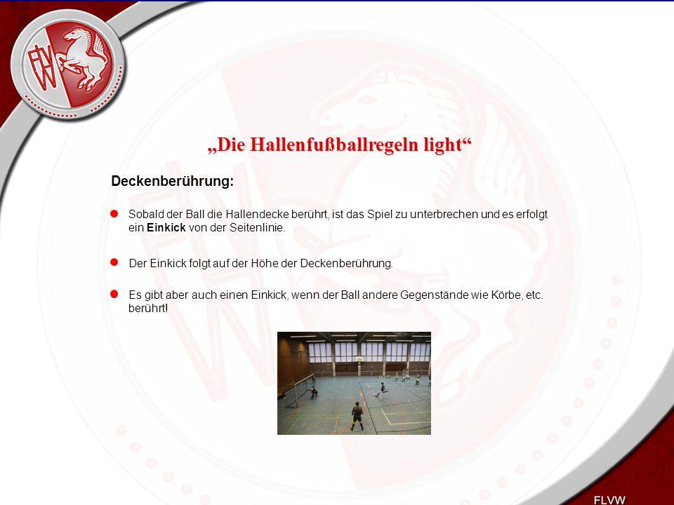Heiko Schneider KSL Bochum FLVW Kreis Bochum www.kreis-bochum.de Deckenberührung: Sobald der Ball die Hallendecke berührt, ist das Spiel zu unterbrech