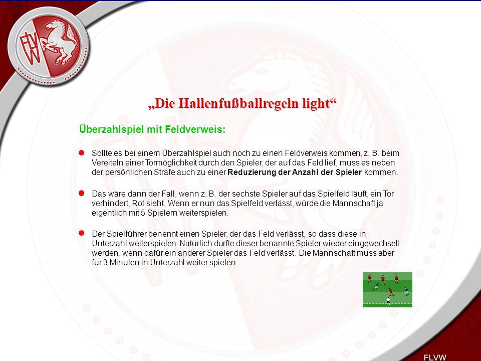 Heiko Schneider KSL Bochum FLVW Kreis Bochum www.kreis-bochum.de Überzahlspiel mit Feldverweis: Sollte es bei einem Überzahlspiel auch noch zu einen F