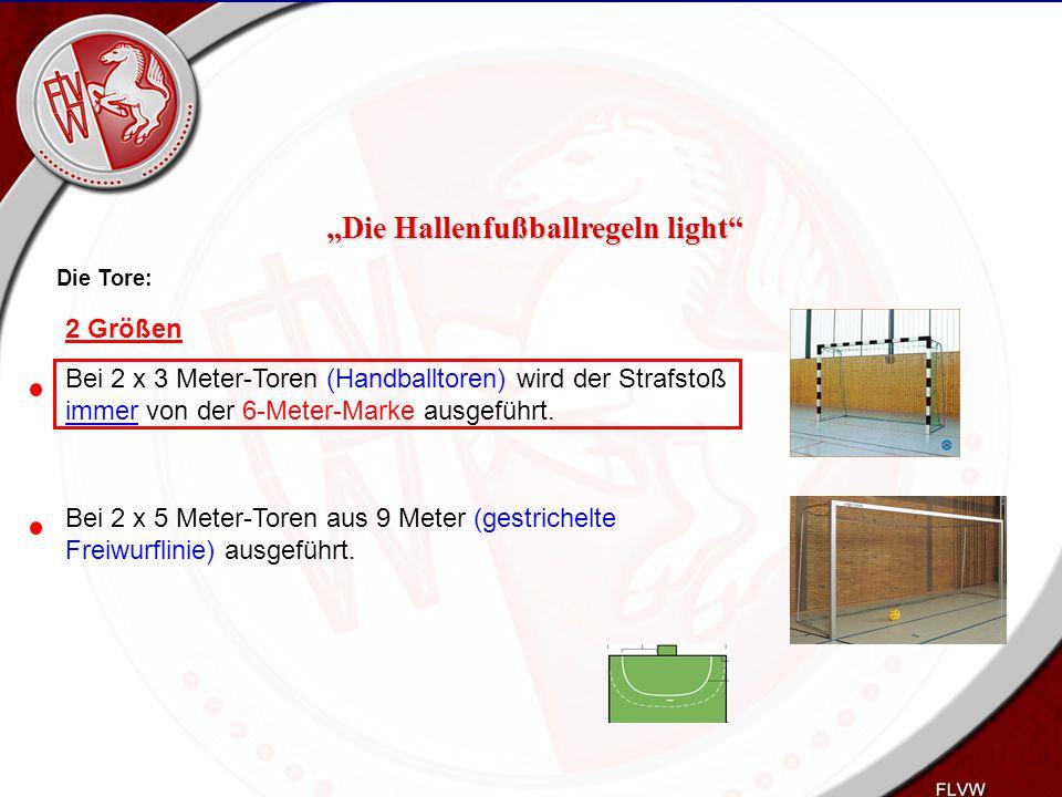 Heiko Schneider KSL Bochum FLVW Kreis Bochum www.kreis-bochum.de Die Tore: Bei 2 x 3 Meter-Toren (Handballtoren) wird der Strafstoß immer von der 6-Me