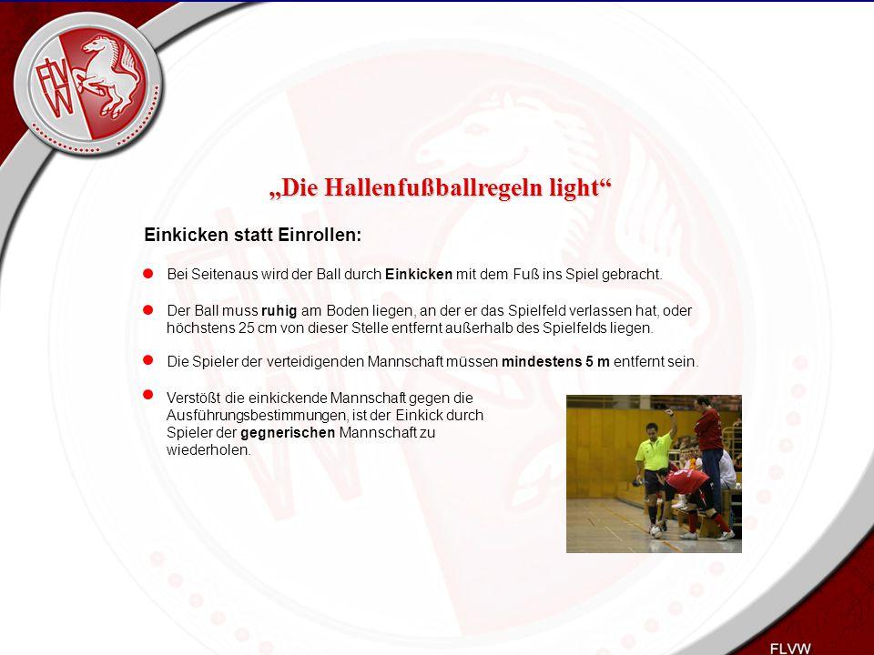 Heiko Schneider KSL Bochum FLVW Kreis Bochum www.kreis-bochum.de Einkicken statt Einrollen: Bei Seitenaus wird der Ball durch Einkicken mit dem Fuß in