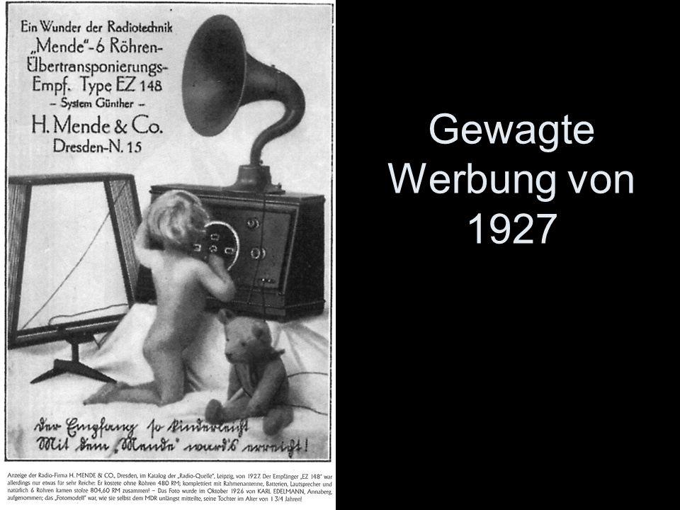 Gewagte Werbung von 1927