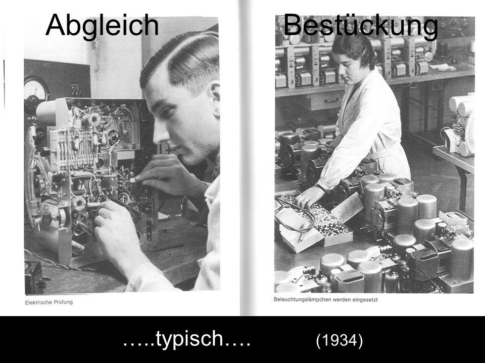 Abgleich Bestückung …..typisch…. (1934)