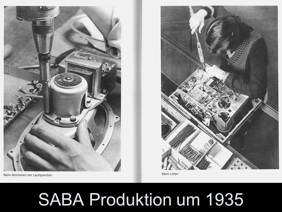 SABA Produktion um 1935