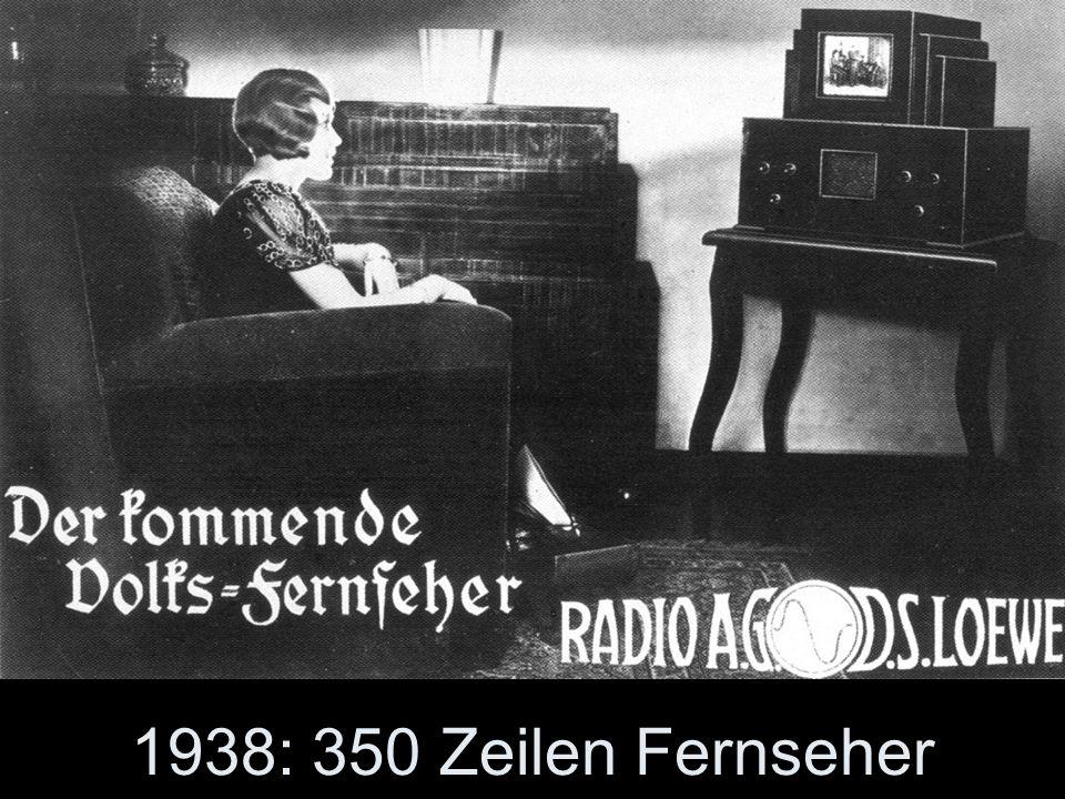 1938: 350 Zeilen Fernseher