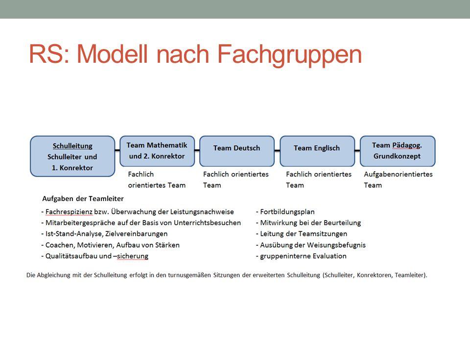 RS: Modell nach Fachgruppen