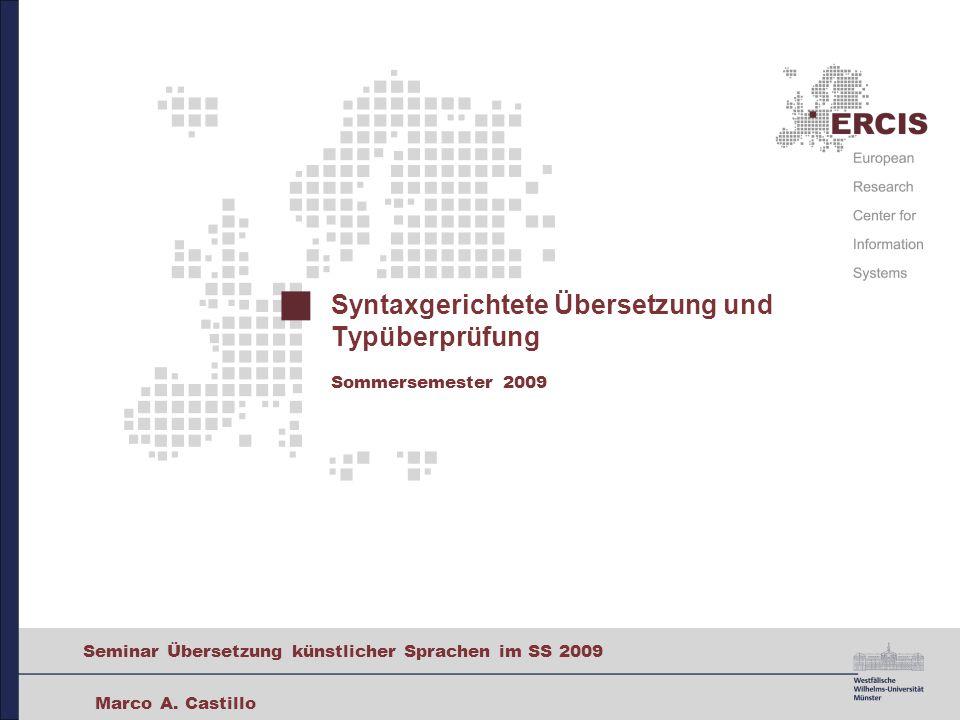 21 Seminar Übersetzung künstlicher Sprachen im SS 2009 Typsysteme Was ist ein Typsystem.