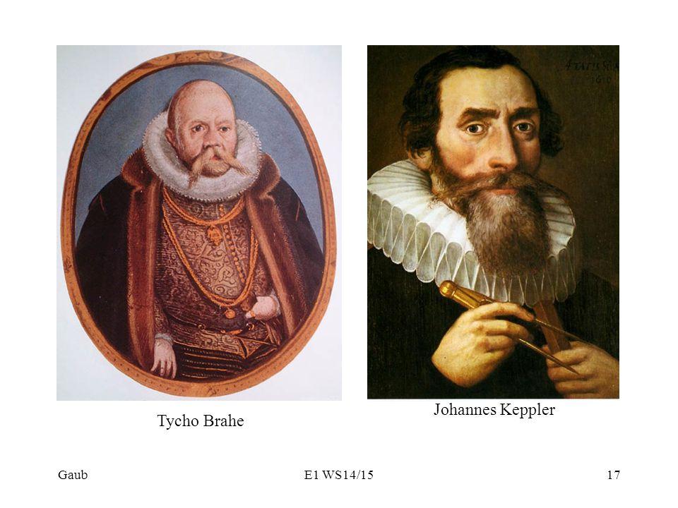 Gaub Tycho Brahe Johannes Keppler 17E1 WS14/15