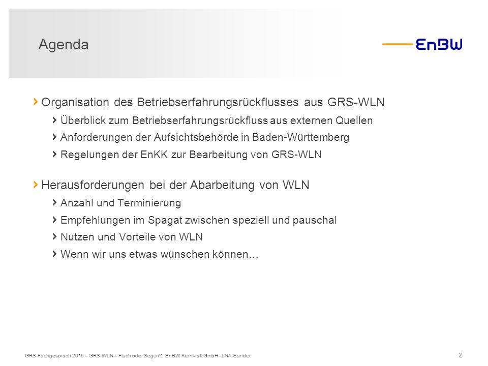 2 › Organisation des Betriebserfahrungsrückflusses aus GRS-WLN › Überblick zum Betriebserfahrungsrückfluss aus externen Quellen › Anforderungen der Au