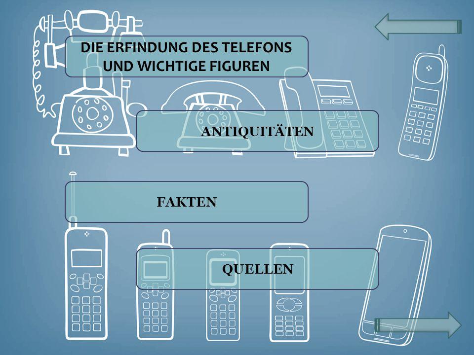 VOM LABOREXPERIMENT ZUM TELEFONNETZ An der Entwicklung des ersten Telefonapparates waren mehrere Personen beteiligt.