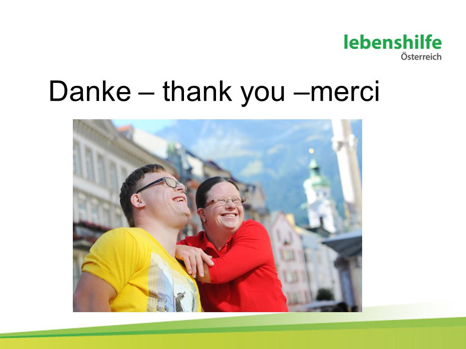 Danke – thank you –merci