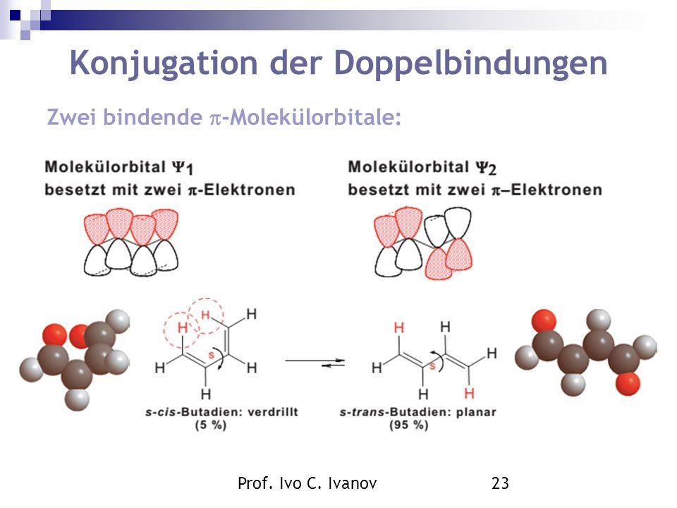 Prof. Ivo C. Ivanov23 Konjugation der Doppelbindungen Zwei bindende  -Molekülorbitale: