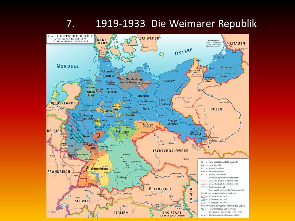 7. 1919-1933 Die Weimarer Republik