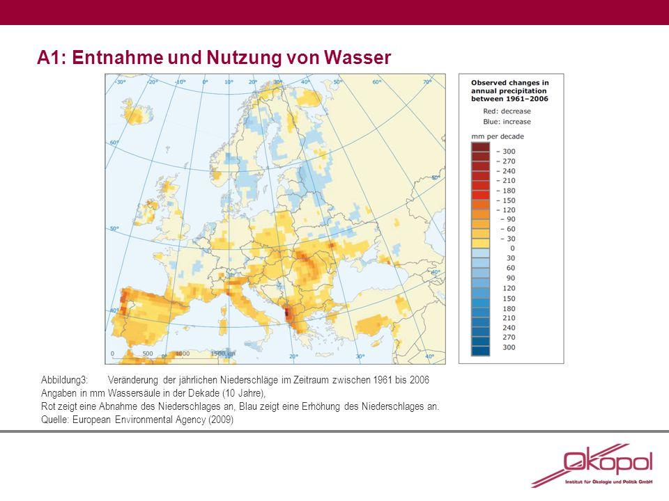 A1: Entnahme und Nutzung von Wasser Abbildung 4:Basisszenario zum weltweiten Wasserbedarf 2000 und 2050 Ergebnisse von Berechnungen anhand der IMAGE-Modellreihe.