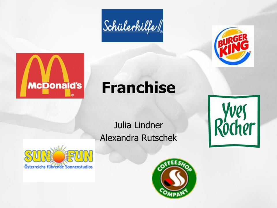 Aufgaben des Franchisenehmer Motivation Umsetzung des Unternehmenskonzept nach Vorgaben Rekrutierung und Führung von Mitarbeitern Herunter brechen der Unternehmensstrategie auf Ihren Standort Lokale Werbung
