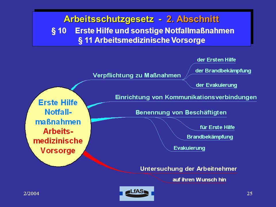 2/200425 Arbeitsschutzgesetz - 2.Abschnitt Arbeitsschutzgesetz - 2.