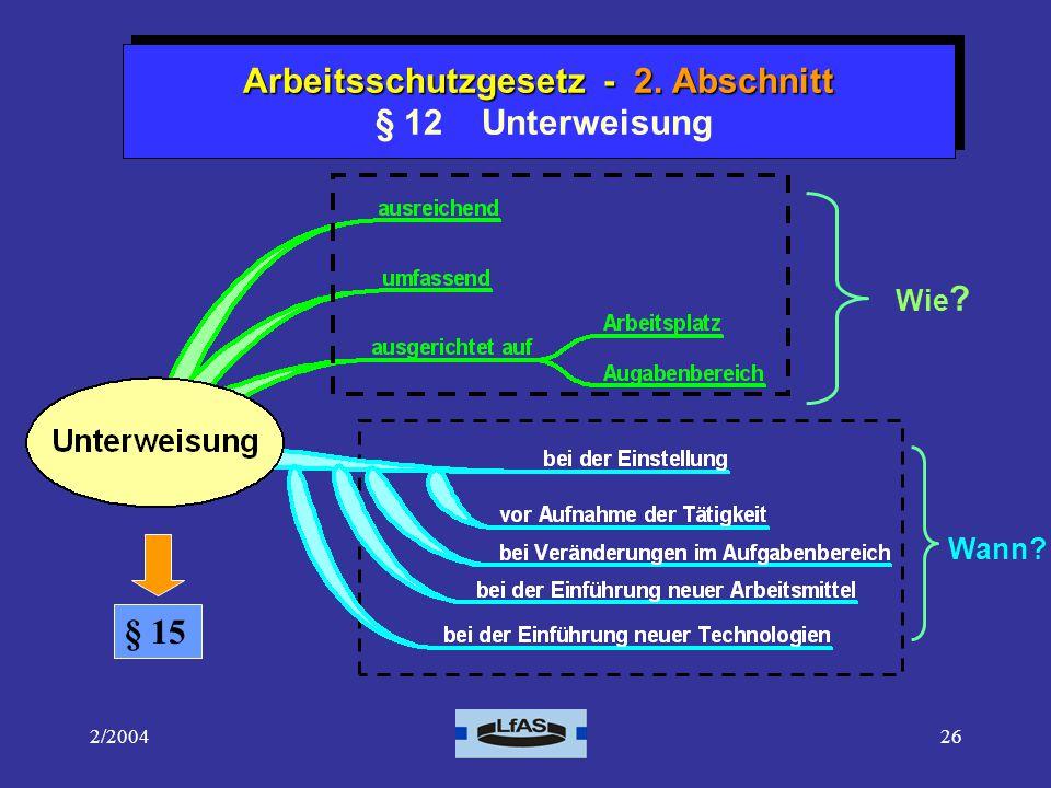2/200426 Arbeitsschutzgesetz - 2.Abschnitt Arbeitsschutzgesetz - 2.