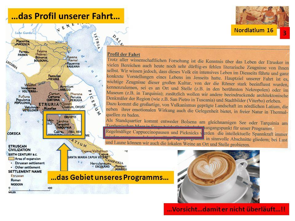 Nordlatium 16 4 …unser Programm: 07.02.München-Verona 08.02.