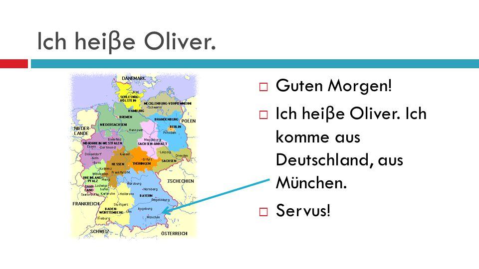 Ich bin Tina.  Grü β Gott!  Ich bin Tina. Ich komme aus Österreich, aus Wien.  Servus!