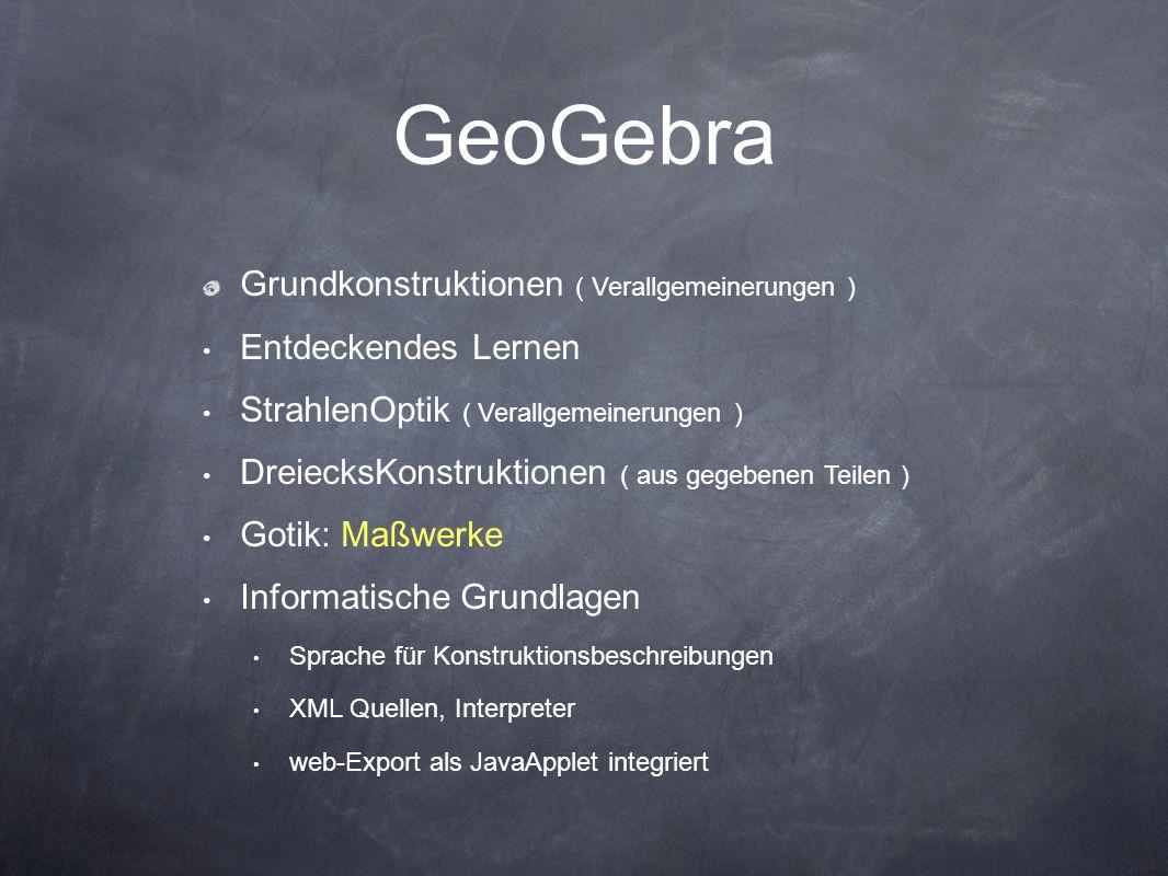 GeoGebra Grundkonstruktionen