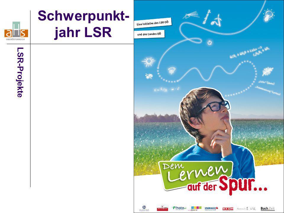23 Schwerpunkt- jahr LSR LSR-Projekte