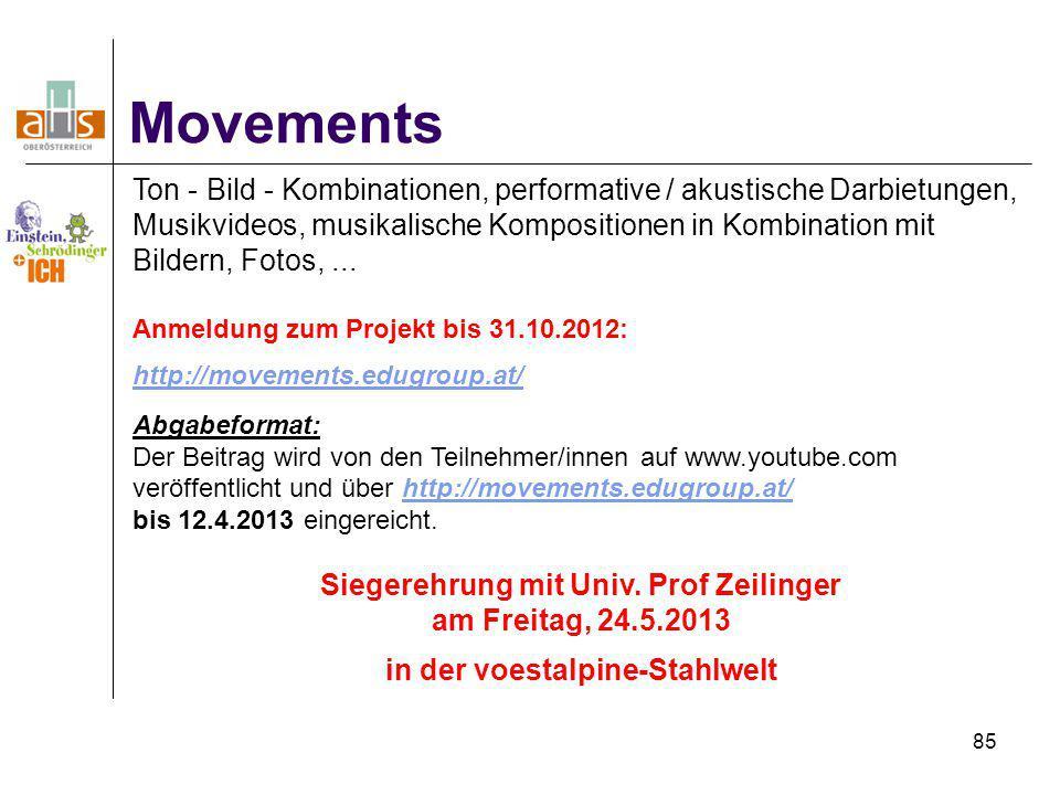 85 Movements Ton - Bild - Kombinationen, performative / akustische Darbietungen, Musikvideos, musikalische Kompositionen in Kombination mit Bildern, F
