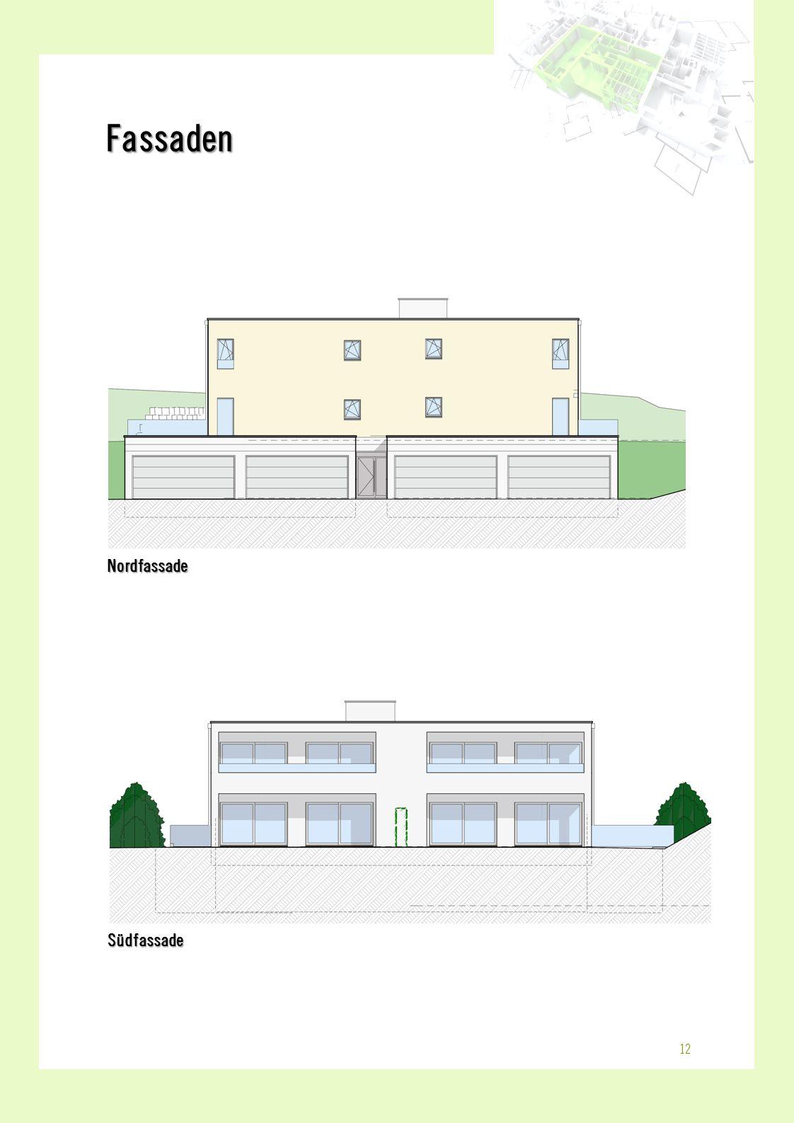 NordfassadeSüdfassade Fassaden 12