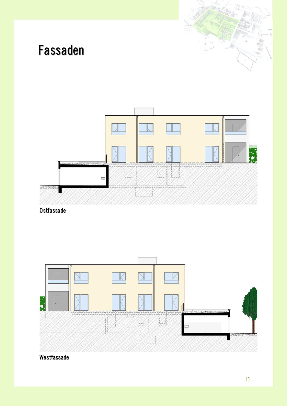 OstfassadeWestfassade Fassaden 13