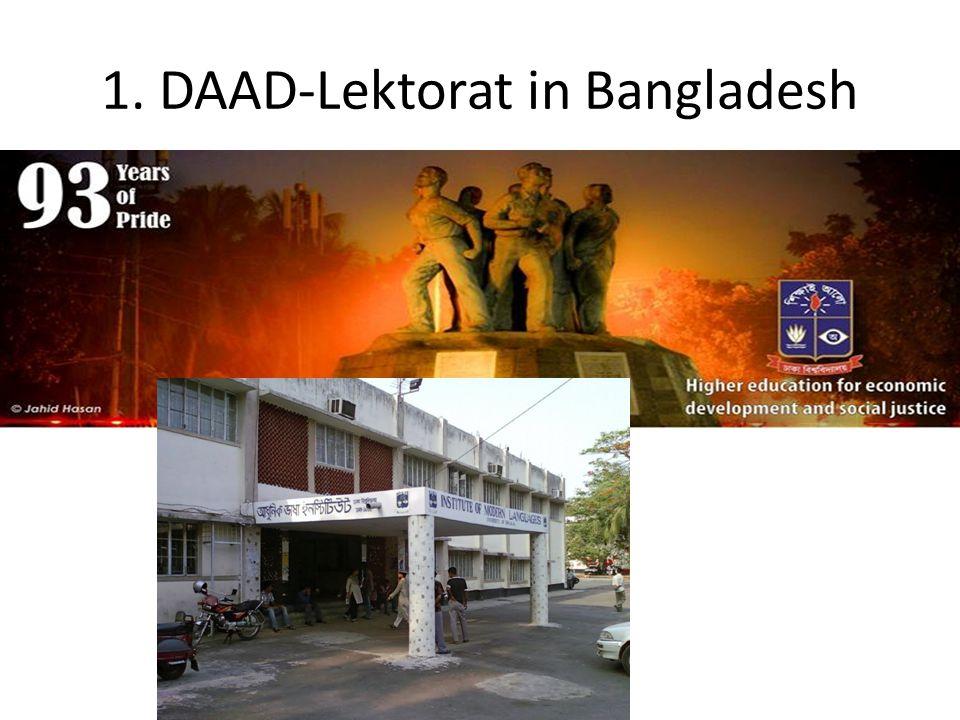 1. DAAD-Lektorat in Bangladesh
