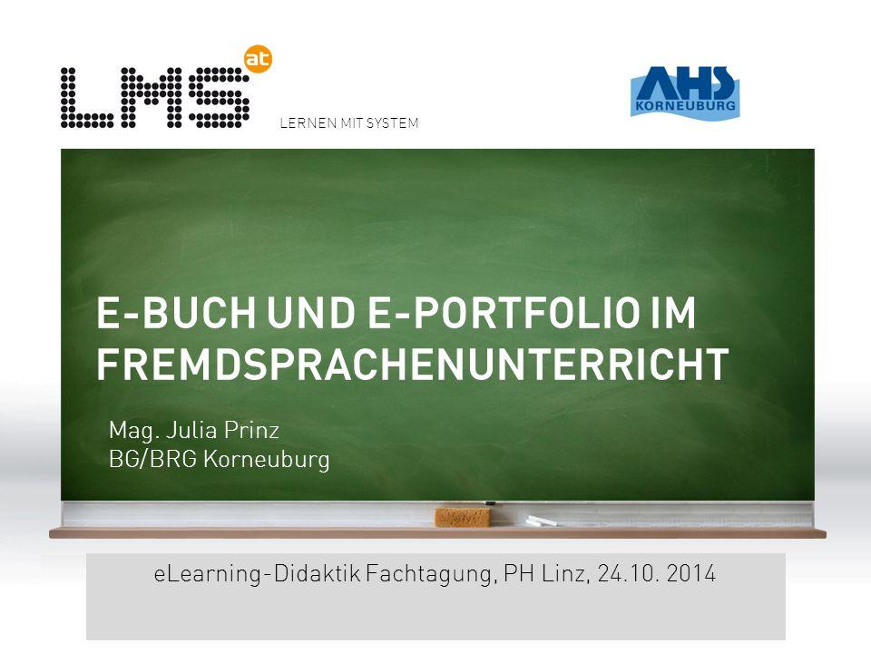 LERNEN MIT SYSTEM eLearning-Didaktik Fachtagung, PH Linz, 24.10.