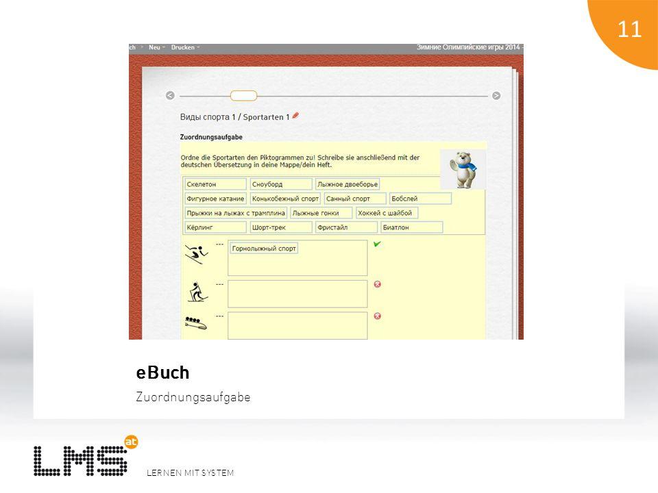LERNEN MIT SYSTEM 11 eBuch Zuordnungsaufgabe 11