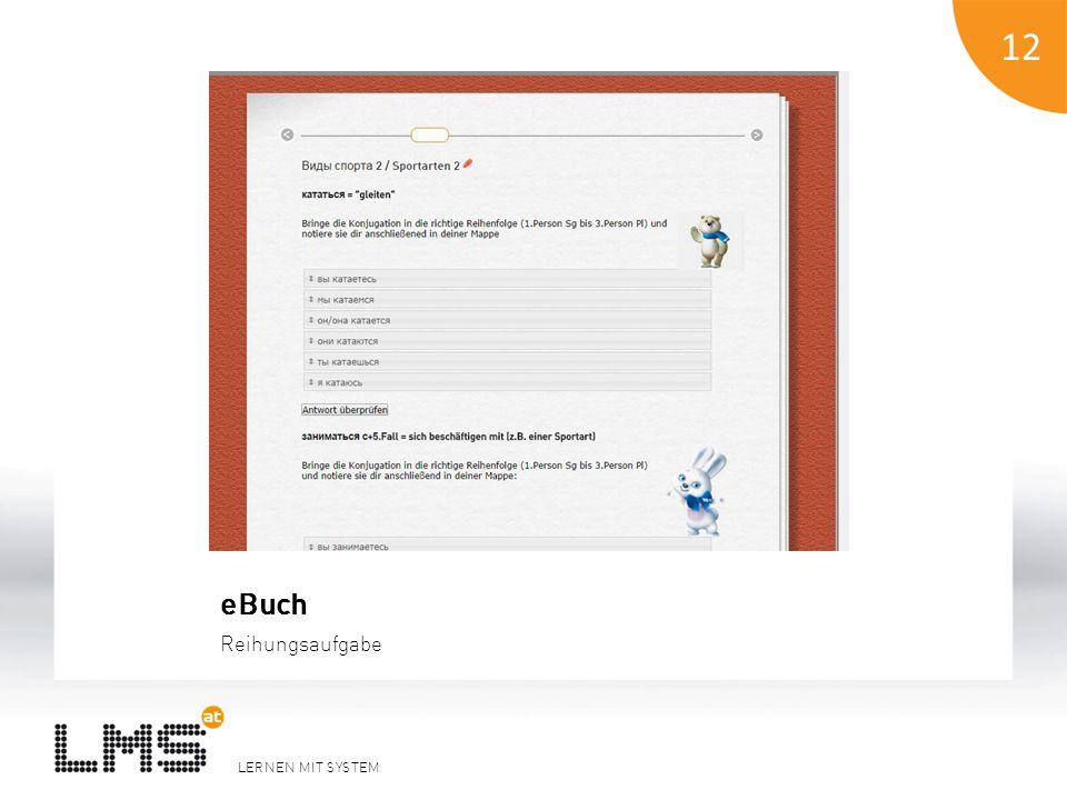 LERNEN MIT SYSTEM 12 eBuch Reihungsaufgabe 12