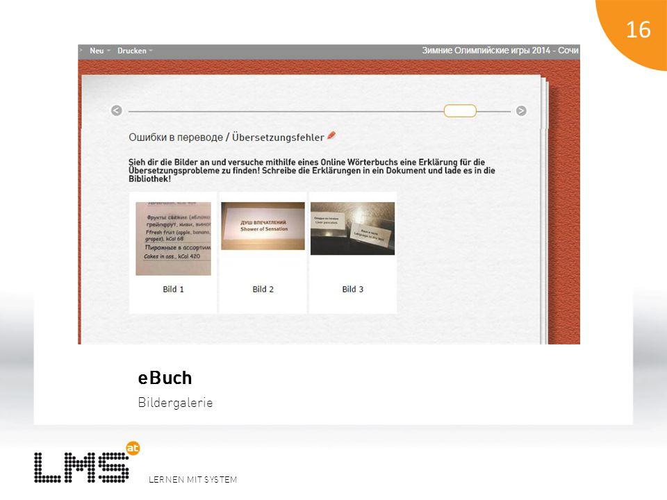 LERNEN MIT SYSTEM 17 Beispiel ePortfolio Übersicht Portfolios im Kurs 17