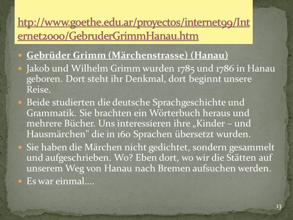 """12 LANDESKUNDE In Gruppenarbeit, 4 Schüler in jeder Gruppe, besuchen wir die Märchenwebseite des Goethe Instituts Argentinien"""". Auf den ersten Blick b"""