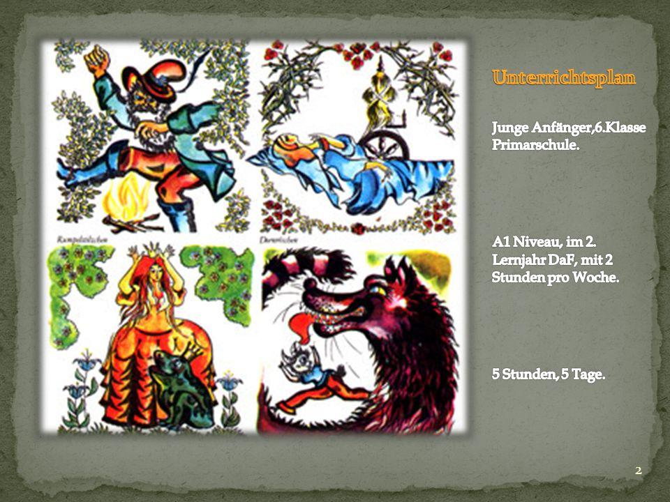 12 LANDESKUNDE In Gruppenarbeit, 4 Schüler in jeder Gruppe, besuchen wir die Märchenwebseite des Goethe Instituts Argentinien .