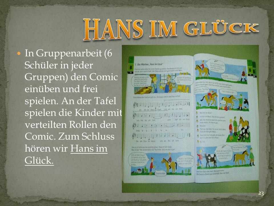 """22 """"Heute sollen wir Personen und Tiere beschreiben, die in Die Bremer Stadtmusikanten und in Hans im Glück benannt sind."""" Wortschatz Nutztiere und Be"""