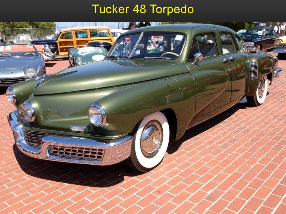 Tucker 48 Bj. 1948 Das einzige Fahrzeug das von Tucker Automobile gebaut wurde. Es hatte damals schon Sicherheitsgurte u. eine Windschutzscheibe die b