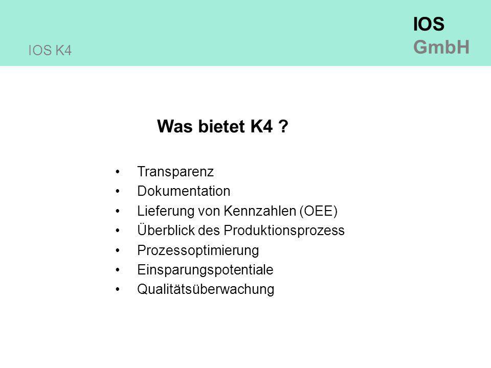 IOS GmbH IOS K4 Was bietet K4 .