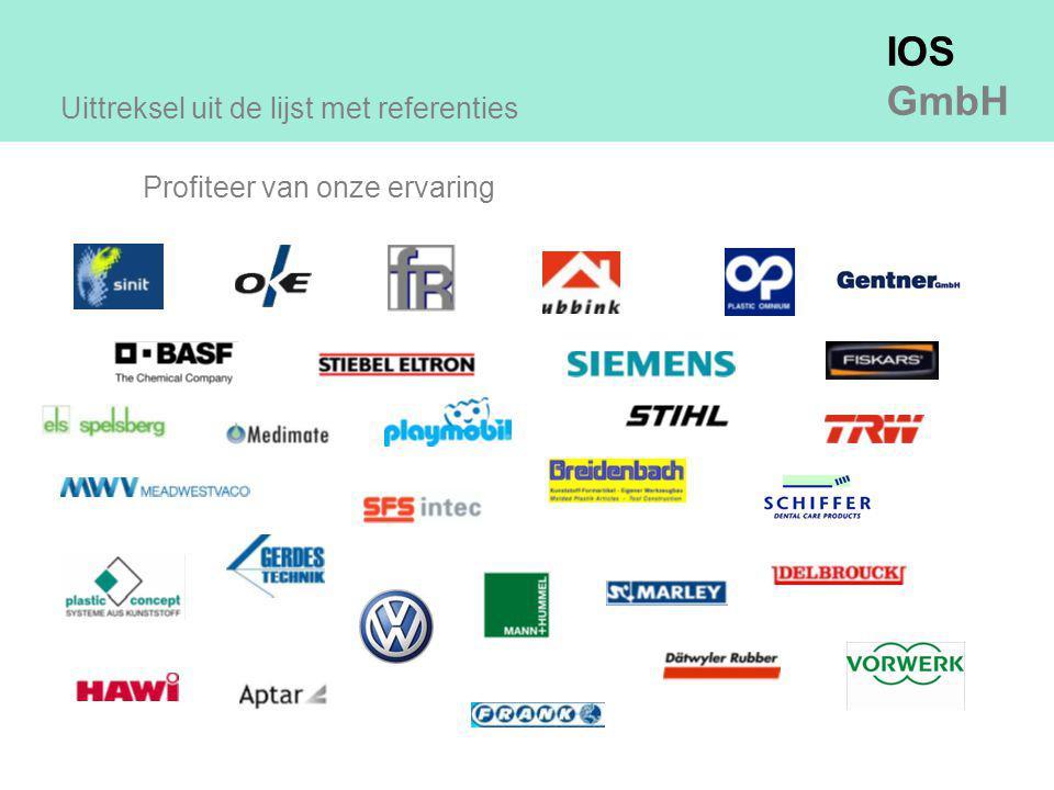 IOS GmbH Uittreksel uit de lijst met referenties Profiteer van onze ervaring
