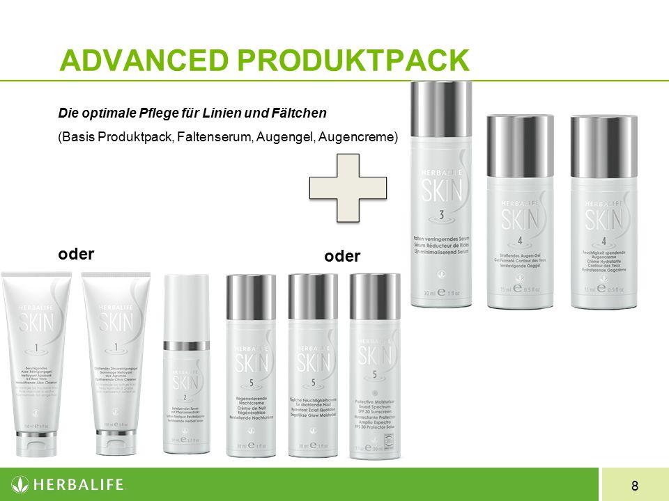 8 ADVANCED PRODUKTPACK Die optimale Pflege für Linien und Fältchen (Basis Produktpack, Faltenserum, Augengel, Augencreme) oder