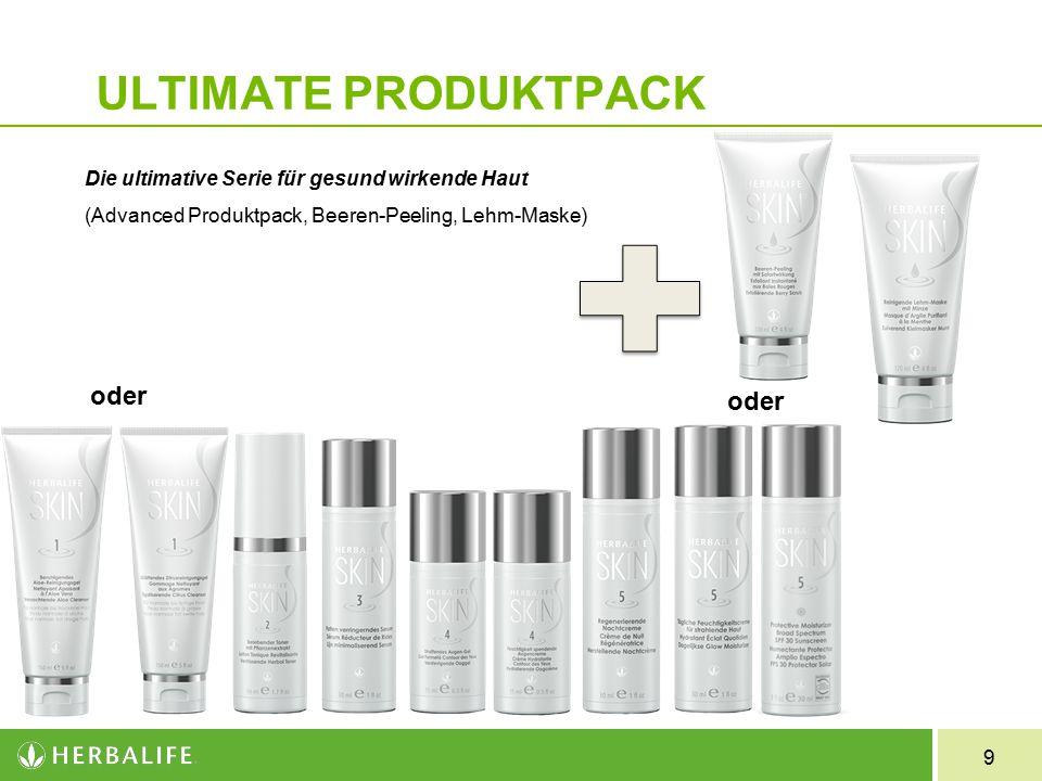 9 ULTIMATE PRODUKTPACK Die ultimative Serie für gesund wirkende Haut (Advanced Produktpack, Beeren-Peeling, Lehm-Maske) oder