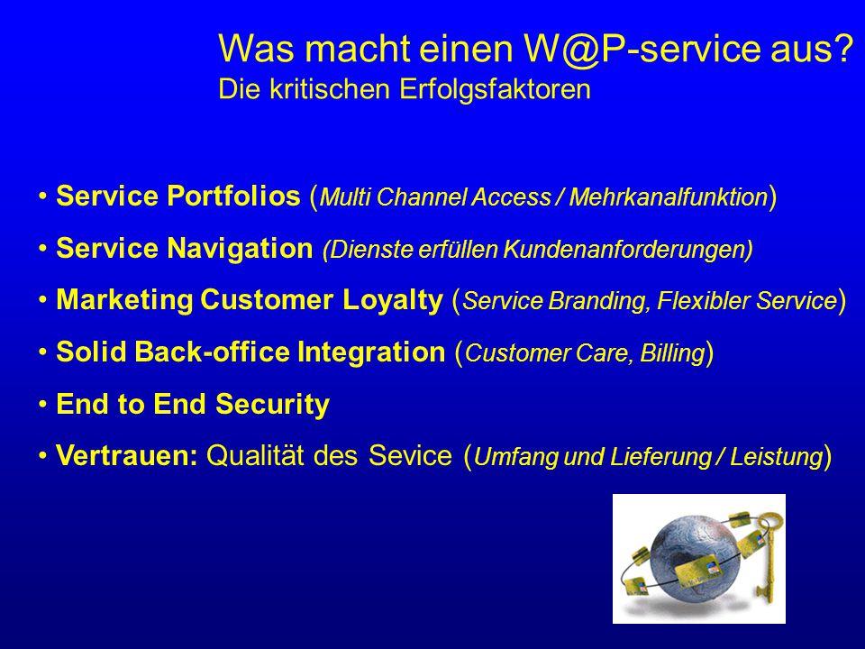 Was macht einen W@P-service aus.