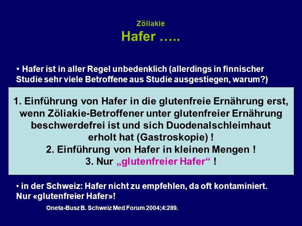 Zöliakie Hafer …..