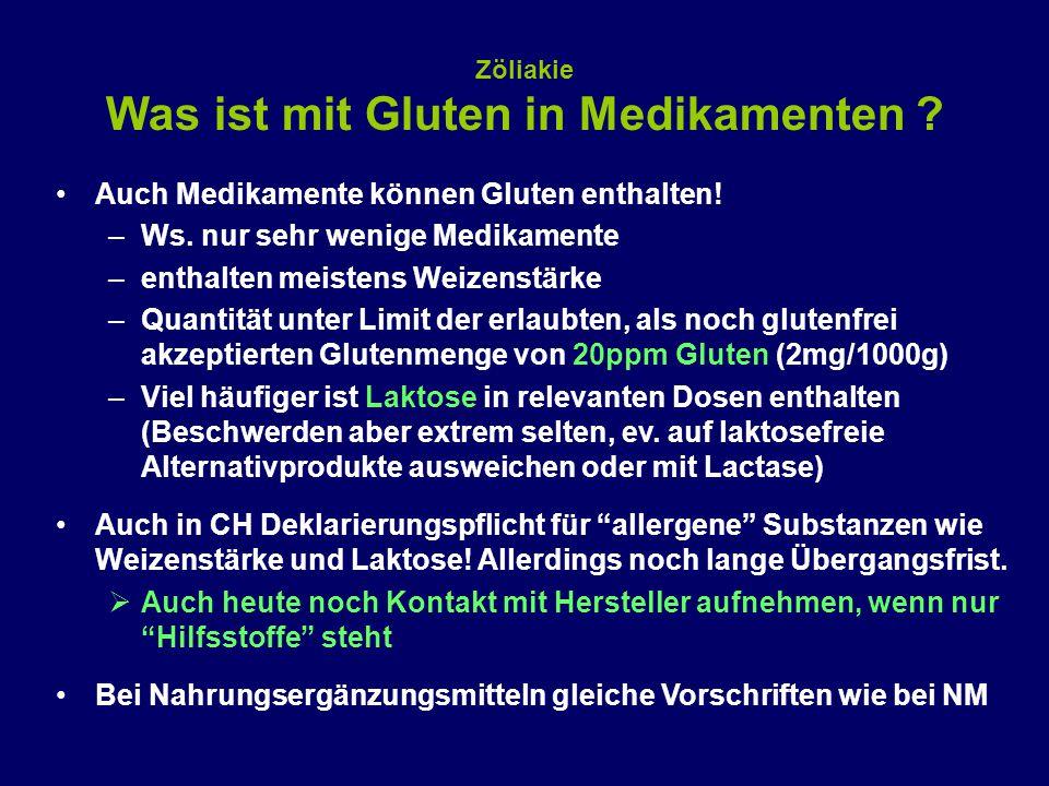 Zöliakie Was ist mit Gluten in Medikamenten .Auch Medikamente können Gluten enthalten.