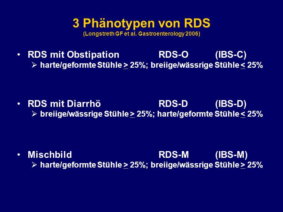 3 Phänotypen von RDS (Longstreth GF et al.