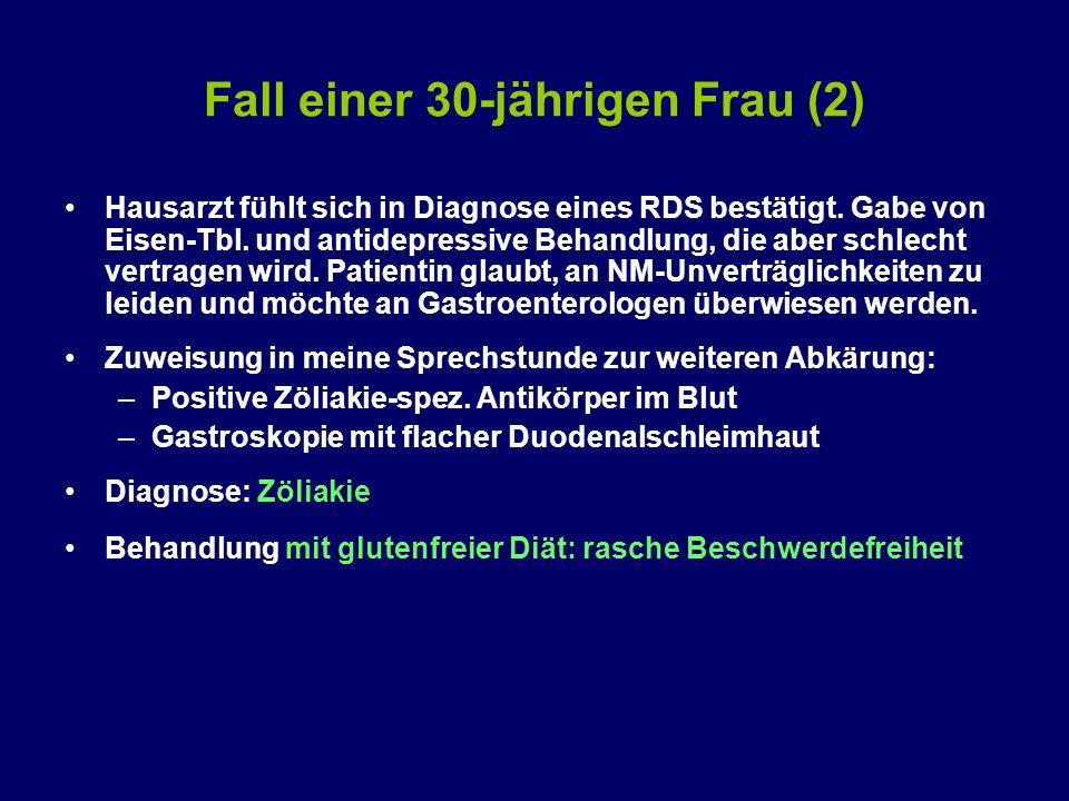 Fall einer 30-jährigen Frau (2) Hausarzt fühlt sich in Diagnose eines RDS bestätigt.
