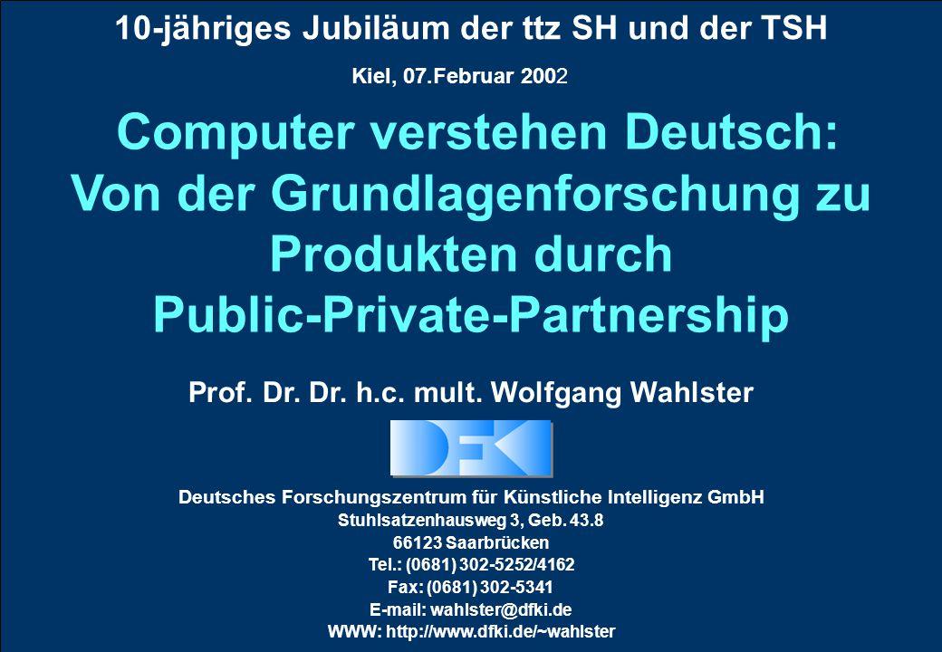 10-jähriges Jubiläum der ttz SH und der TSH Prof. Dr.