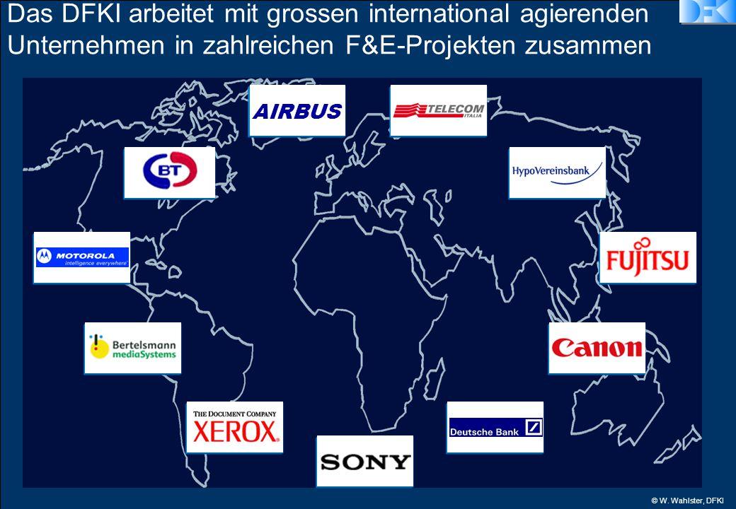 © W. Wahlster, DFKI Das DFKI arbeitet mit grossen international agierenden Unternehmen in zahlreichen F&E-Projekten zusammen AIRBUS