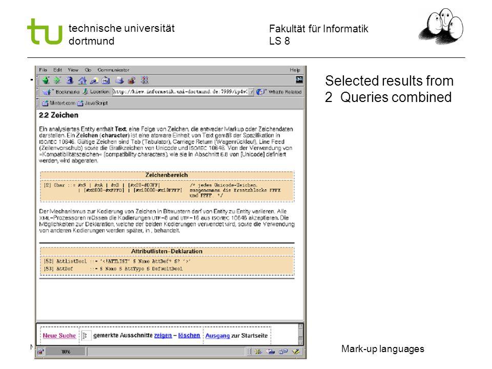 Name Autor | Ort und Datum Fakultät für Informatik LS 8 technische universität dortmund Does the sequence in window focus enhance the learning result.