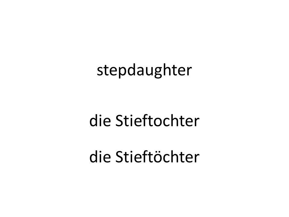 stepdaughter die Stieftochter die Stieftöchter