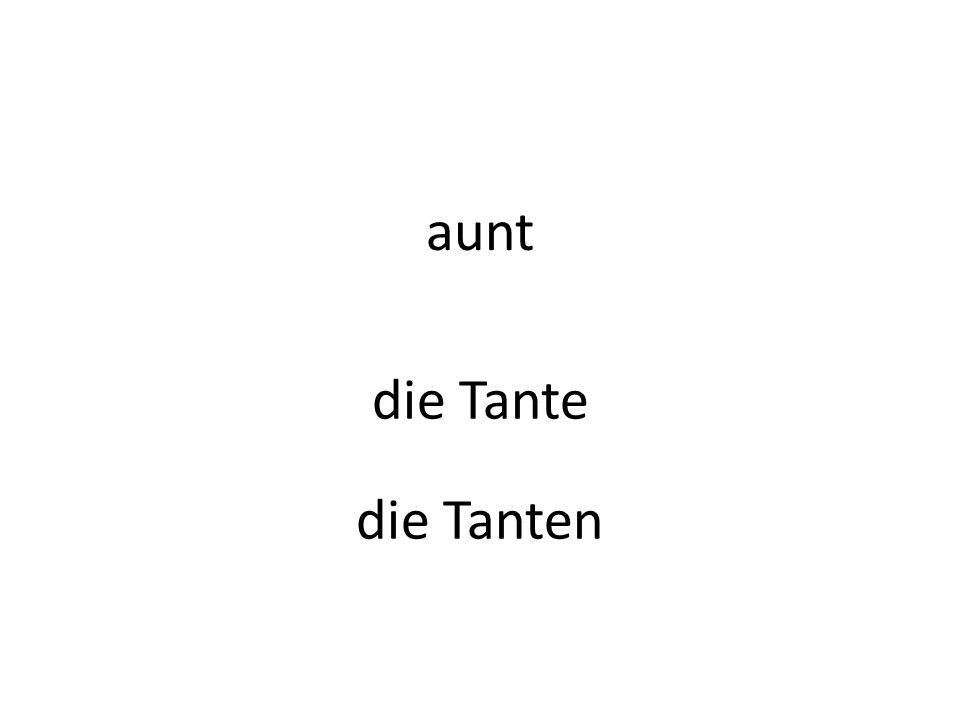 aunt die Tante die Tanten